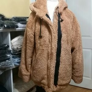 Lana roux Jackets & Coats - Oversized Teddy Jacket